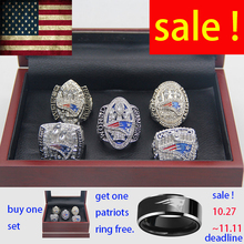 5pcs/set 2001 2003 2004 2014 2016 official authority New England Patriots Super Bowl Championship Rings For MVP BRADY PRE-SALE(China)