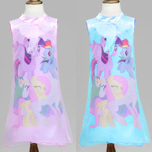 2016 New Girl Dress Slim Girls Chinese Traditional Dress  Cheongsam Girls Wedding Dresses  Kids cartoon Pattern Dresses