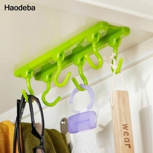 Haodeba Fashion Style Kitchen Cupboard Cooking Tools Hanger Rack Ceiling Hanging Rack Hooks Kitchen Accessories(China)