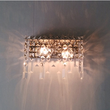 Modern Crystal Wall Lamp Sconce Light dressing table Mirror sconces Modern wall mounted bedside reading lamps crystal