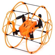 2016 New Arrive RC Helic Max Sky Walker 1336 2.4GHz 4CH RC Quadcopter 3D Flip Climbing Wall Roller Copter(China)