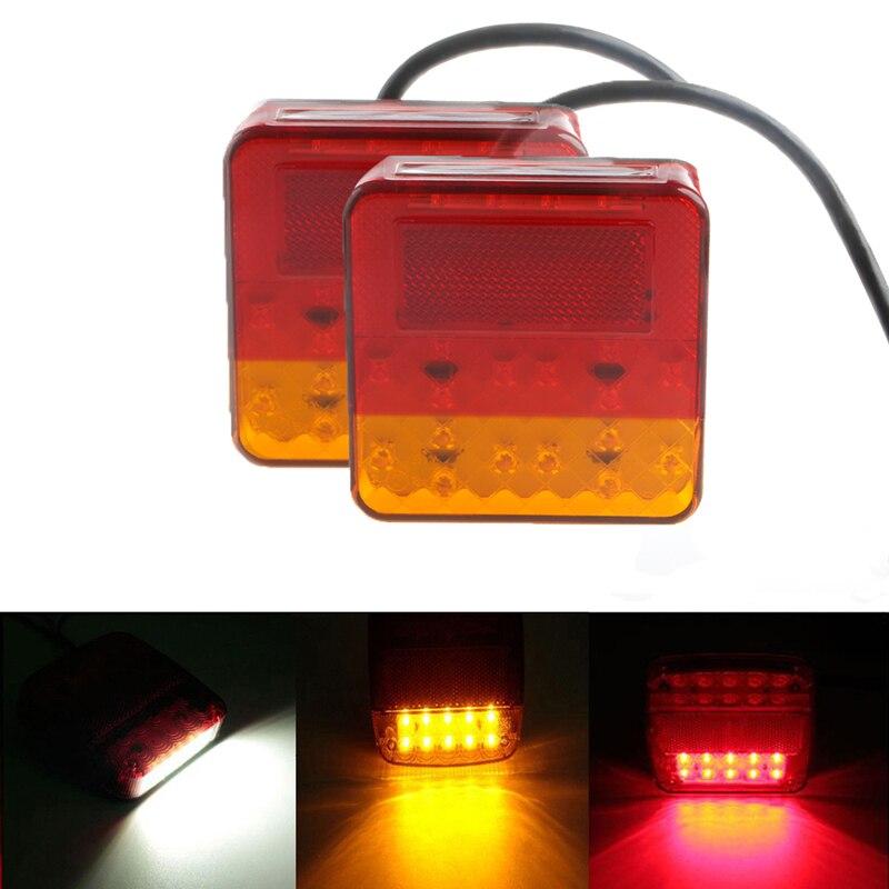 2PCS 16 LEDS Truck Trailer Tail Car Lights 12V 16/20 LED Trailer Tail Light Left Right Taillight Truck Car Van Lamp<br><br>Aliexpress