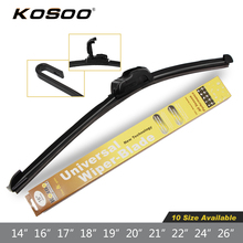 KOSOO Wiper Blade Top Quality Auto Universal Natural Rubber Car Wipers Soft Windshield Blades 14-28inch Styling Car Accessories(China)