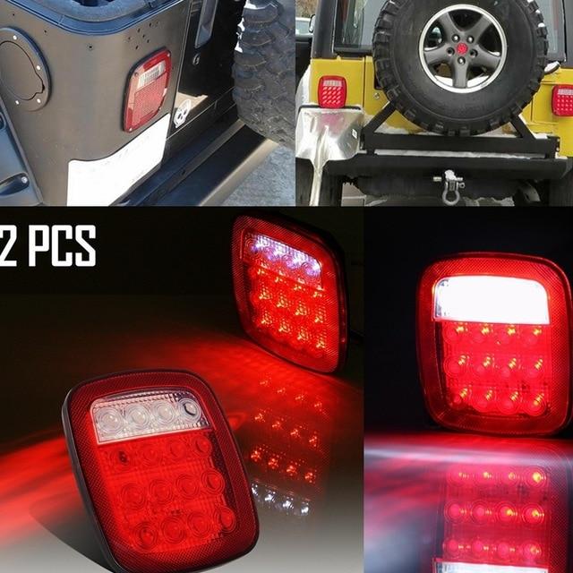 Pair 16LED Brake Stop Turn Tail License Light for Jeep Wrangler JK