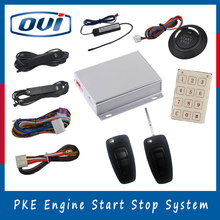 2016 Hot Selling PKE Remote Engine Start System Start Stop Push Button keyless entry push start button car alarm system(China)