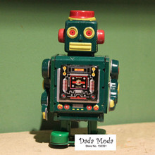 Antique Style Tin Toys Wind Up Toys Robots iron Metal Models for Children/Adult Home Decoration Craft MS519 green robot(China)