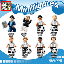 Super Heroes World Cup Movie Mats Hummels Germany Football Player Team Coach Loew Building Blocks Children Gift Toys KL9001