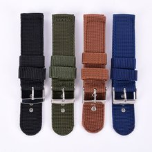 New Military Army Nylon Fabric Canva Wrist Watch Band Strap 18/20/22/24mm 4Color Banda de reloj de nylon