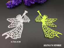 metal cutting dies fly angel fairy horn for crapbooking Card  stencils template die cuts wing lady embossing knife