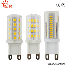 LED Lamp G9 220V 5W 7W 9W 10W 15W Mini LED G9 Bulb Lamp Ceramic Crystal High Power 360 Degree G9 Light