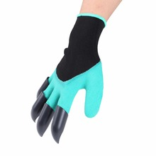 TV Products Garden Labor Protection Gloves Gardening Dig Plant Gloves With Claw Horticulture Anti Cutting Rubber Gloves(China)