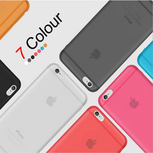 Thin Matte Frosting Shell Cover Skin Case Cover For iphone 4 4S 5 5S SE 6 6S 6 PLUS 7 7Plus Cases Moblie Phone Bag(China)