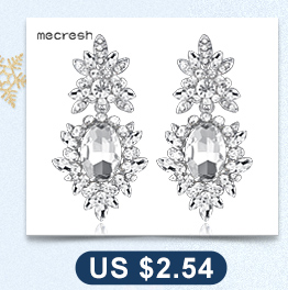 Mecresh Newest Spring Long Tassel Earrings for Women Clear Crystal Bridal Hanging Brincos Wedding Jewelry New Year Gift MEH1003