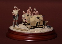 Free Shipping 1/35 Scale Unpainted Resin Figure WW2 DAK crew for 2 cm Flak 38 just 4 figures ( excluded the base and flak 38 )