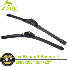 "Wiper Blades for Renault Scenic II 2003-2004 26""+22"", 2pcs Free Shipping, Top Rated Windshield Wipers"