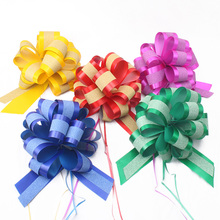 Genie Pull Bow Flower Ribbon Christmas Birthday Home Gifts Wrapping Packing Material Wedding Car Decor Craft Pull Flowers Bows