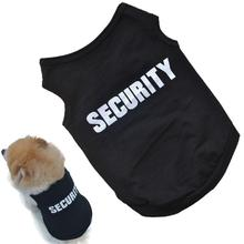 2017 Newly Design SECURITY Black Dog Vest Summer Pets Dogs Cotton Clothes Shirts Apparel Ropa Para Perros Summer Dog Clothes(China)