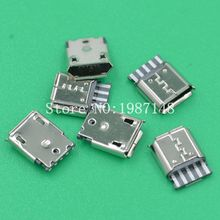 10Pcs A34 Micro USB 5pin Female Socket Connector Welding Type for Tail Charging Mobile Phone Sell At A Loss USA