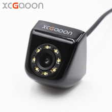 XCGaoon CCD Car Rear View Camera Real Waterproof ( IP67 ) Wide Angle 8 LED Lights Night Vision Parking Reversing Assistance(China)