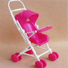 New Lovely Cute Mini Doll Furniture For Girls Children Toys Doll Accessories Plastic Doll Cart Kids Gifts For Barbie(China)