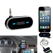 Wireless Transmitter 3.5mm LCD Display Music Audio FM Transmitter For iPod Mobile Phone iPhone 4 5 6 Electronic Car MP3 Player