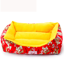 New Pet Beds For Puppy Animals  Cartoon Flannel Retail & Wholesale Dogs Brad Cushion Goods For Chihuahua Yorkshire