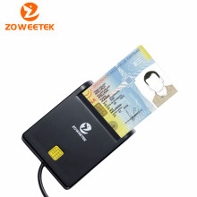 Zoweetek 12026-1 Easy Comm EMV USB Smart Card Reader CAC Common Access Card Reader ISO 7816 For SIM /ATM/IC/ID Card