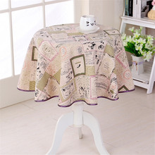 japan style cotton linen tablecloth 3 desings round dining table cloth nature freshness home decorative table cloths 4 sizes