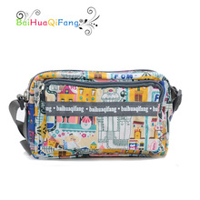 Designer mini character printing messenger bags for girls waterproof PVC cute shoulder bag ladies clutch for weekend 3colors(China)