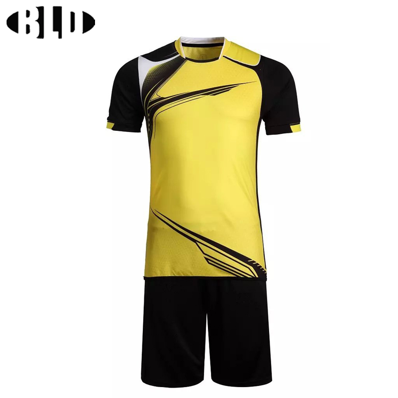 Soccer Jerseys 2016 2017 Sport Set Shirts Shorts Breathable Football Suit Voetbal Soccer Uniforms Team Custom Print Logo Name(China)