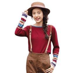 INMAN новый длинный рукав o-образным вырезом полосатый свитер Повседневный джемпер пуловеры зимние женские
