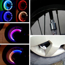 2PCS Car Tire Tyre Wheel LED Valve Cap Stem Light Blue Decoration FIT for Lada Opel Skoda Volkswagen Fiat Ford KIA Drop Shipping