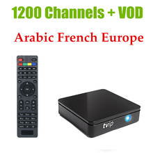 TVIP 410 412 Amlogic Quad Core 4GB Flash Android 4.4/Linux Dual OS Smart TV Box Support H.265+1 Year French Europe IPTV MAG250(China)