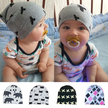 Baby Hats Animal Printed Baby Boys Girls Caps Sping Brand Toddler Crochet Beanies Newborn Handmade Photography Props Accessories