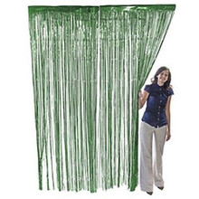 3 ft. x 8 ft Metallic Green Foil Fringe Curtain Shimmer Curtain Birthday Decor New Christmas New Year Decorations