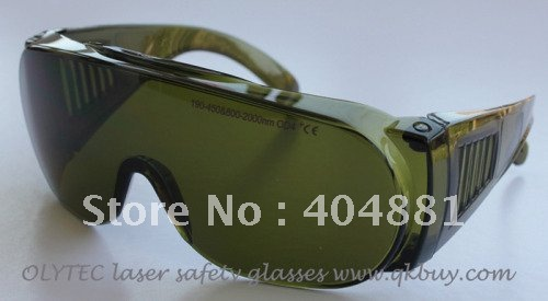 190-450nm and 800-2000nm O.D 4+ CE certified laser safety glasses with O.D curve<br>