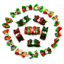 20/50/100pcs /set handmade dog christmas hair bows festival pet hair bows Assorted styles pet hair accessories for christmas