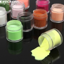 12 Colors Fine Shiny Nail Art Glitter Powder Dust UV Gel Acrylic Powder 3D Decoration Women Beauty Manicure Tools Tips(China)