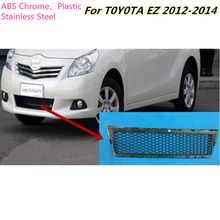 For Toyota EZ Verso 2012 2013 2014 Car protection ABS chrome trim Front racing up Grid Grill Grille Around frame lamp panel 1pcs
