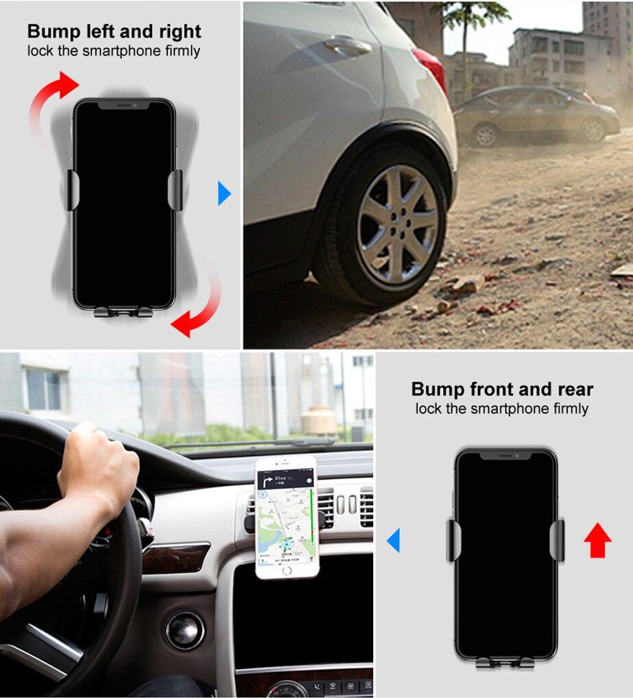 Baseus Car Mount Qi Wireless Charger شاحن سيارة لاسلكي سريع 16