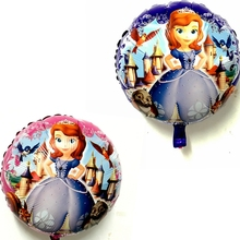 Cartoon Sofia Princess Castl Animal Foil Balloons Girl child Birthday Party Wedding decoration baby shower Inflatable toys balls