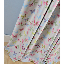 Classic cartoon butterfly design curtains with printed nice quality blackout curtain for liveing room