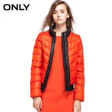 ONLY Brand NEW women fashion high quality thick warm 70% white duck down jacket Coat female Outerwear tops cloth 115323013(China)
