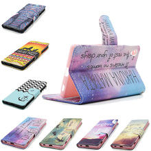 For Sony Xperia Z3 Mini Z3 Plus Z4 E3 C3 Dual Smart Phone Bag Printing Flip PU Leather Wallet Stand Housing Cover Case Coque
