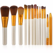 12 Pcs Beauty Essential Makeup Brushes Set Maquiagem Cosmetic Make Up Set Eyeshadow Accessories Tools Kit Fashion Style(China)