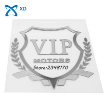 car styling vip decal body stickers badge logo emblem for VIP for bmw benz vw honda kia suzuki jeep toyota ford peugeot subaru