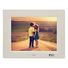 8inch 800*600 Resolution Digital Photo Frame LED HD Video Playback Photo Frame,Clock&Calendar Music MP3 Movie Player White/Black