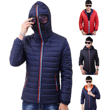 Winter Parka Men Warm Jacket Outerwear Padded Hooded 2016 Brand New Stylish Down Jackets With Glasses Windbreaker Coat Hombre 84