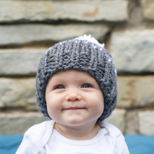Newborn Baby Knitted Cap Boys Girls Autumn Winter Warm Hat Fashion Baby Cute Wool Hat with Fur Ball