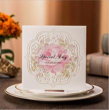 2017  free shipping new arrival  Wedding Invitations Elegant  europe white Invitation Card Wedding  with china supplier